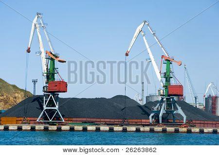 coal terminal at russian port Vladivostok