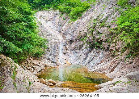 Waterfall at Seoraksan National Park, South korea