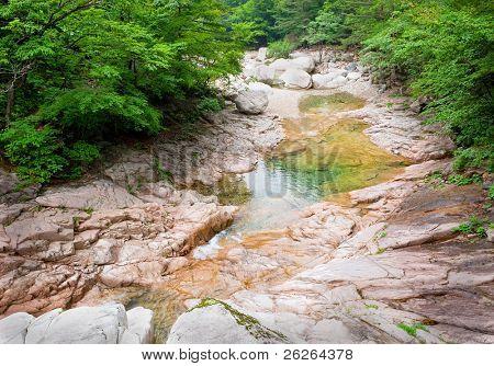 River view at Seoraksan National Park, South korea