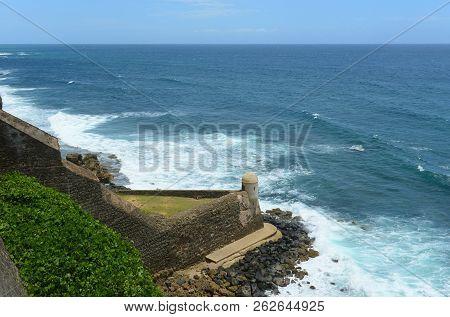 Castillo De San Cristobal Devil`s Sentry Box, San Juan, Puerto Rico. Devil`s Sentry Box Is The Oldes