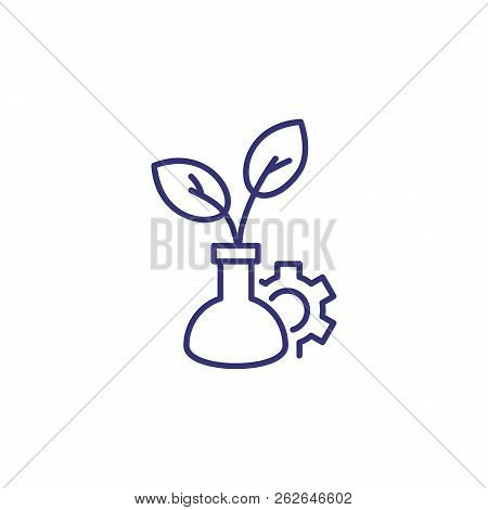 Biological Research 2 Line Icon. Science, Biology, Investigation. Science Concept. Vector Illustrati