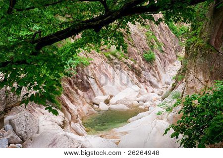 forest creek canyon view at Seoraksan National Park, South korea