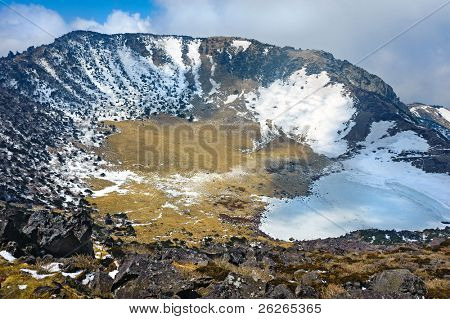 Hallasan mountain volcanic crater at Jeju island Korea