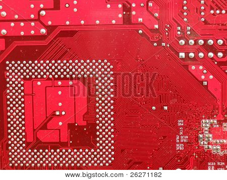 Circuit board in red