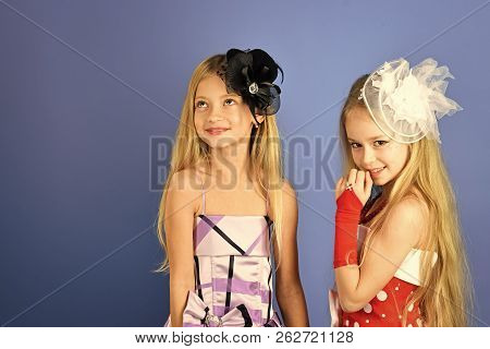 Fashion And Beauty, Little Princess. Friendship, Look, Hairdresser, Wedding. Little Girls In Fashion