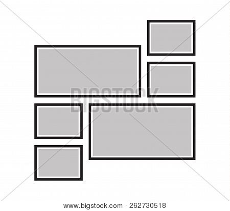 Vector Frame For Photos, Pictures, Photo Collage, Photo Puzzle