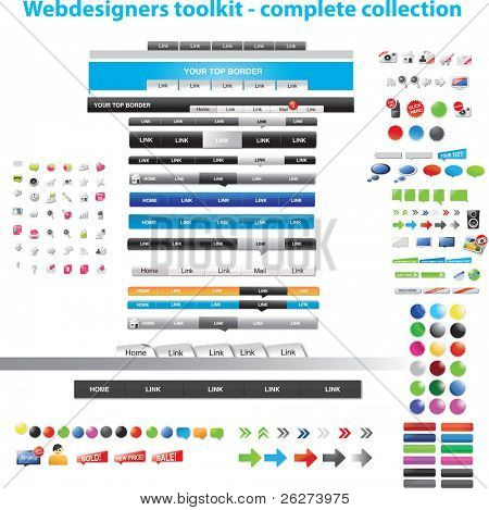Diseñadores web toolkit - colección completa