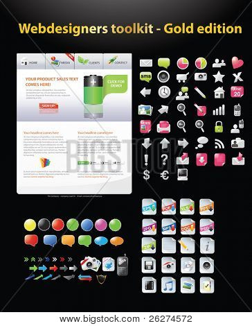 Web designers toolkit - Web template and web graphics