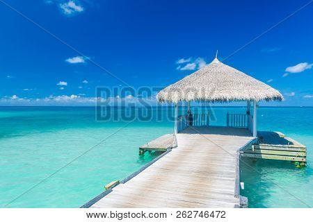 Inspirational Image With Beach Background And Copy Space. Calmness And Tranquility Concept. Beautifu