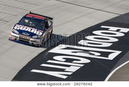 BRISTOL, TN - MAR 19: Dale Earnhardt, Jr. brings his Chevrolet through the turns during a practice session for the Food City 500 race at the Bristol Motor Speedway on Mar 19, 2010 in Bristol, TN.