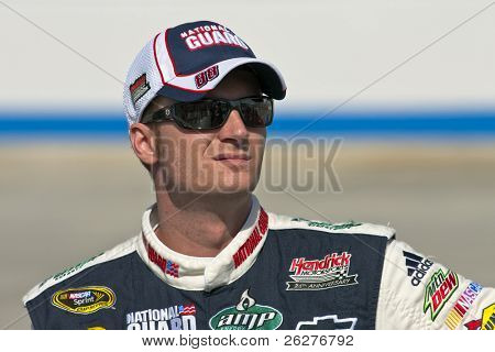 DOVER, DE - SEP 25:  Dale Earnhardt, Jr. watches qualifying for the AAA 400 race at the Dover International Speedway on Sep 25, 2009 in Dover, DE.