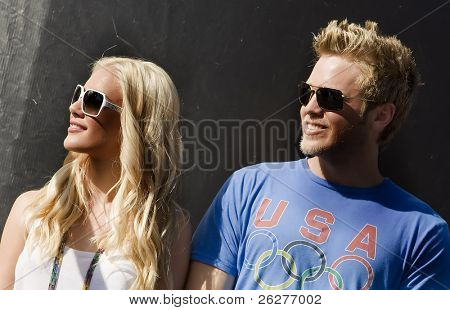 FONTANA, CA - AUG 29:  Heidi Montag and boyfriend Spencer Pratt Reality TV celebrities at The Pepsi 500  on Aug 29, 2009 in Fontana, California