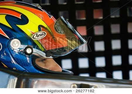 LONG POND, PA - JUNE 04:  Jeff Gordon gets ready to practice for the Gillette Fusion ProGlide 500 race at the Pocono Raceway in Long Pond, PA on June 4th, 2010.
