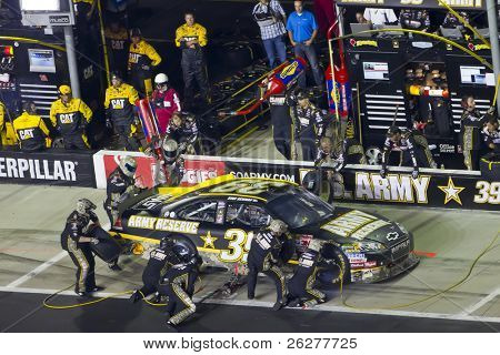 HAMPTON, GA - SEP 05:  Ryan Newman brings his US Army Chevrolet in for service during the Emory Healthcare 500 race at the Atlanta Motor Speedway in Hampton, GA on Sep 05, 2010.