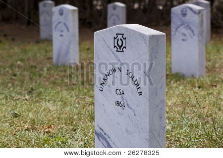 Graves of unknown Confederate soldiers poster