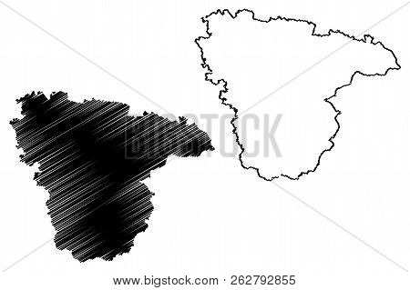 Voronezh Oblast (russia, Subjects Of The Russian Federation, Oblasts Of Russia) Map Vector Illustrat