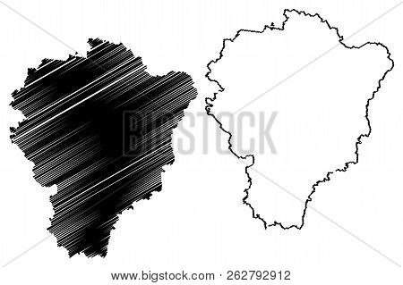 Yaroslavl Oblast (russia, Subjects Of The Russian Federation, Oblasts Of Russia) Map Vector Illustra