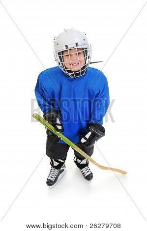 Little Boy Hockey Player