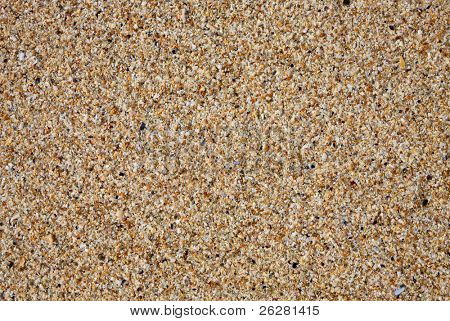Close up of sand on a beach.  Natural texture background.