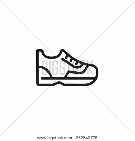 Trainer Line Icon. Shoelaces, Sneaker, Sports Shoe. Footwear Concept. Can Be Used For Topics Like Sh