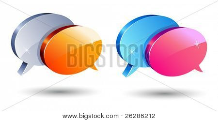 conjunto de balões de comunicação brilhante