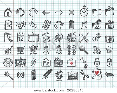 doodle icons. vector