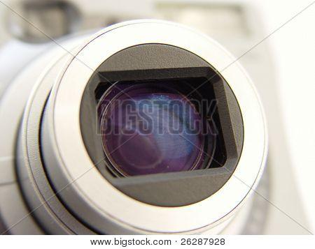 Closeup von einer digitalen Kamera len
