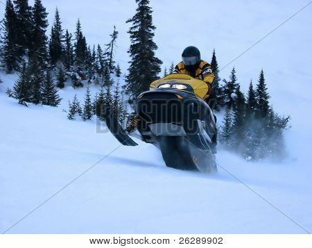 Ski doo in Winter - Action shot