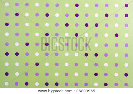 Abstract Polka Dot background, with purple and white dots