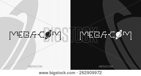 Black And White Wordmark Communication Icon. Typography. Identity Logotype. Brand Mark. Brand Design