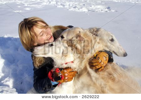 Woman With The Dogs
