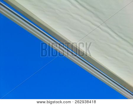Sunblind Against Blue Sky, Close, Up, Contrast, Structure, Sun, Protection