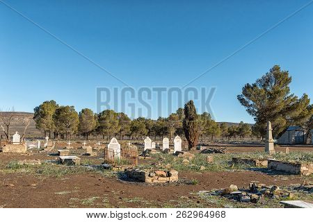 Sutherland, South Africa, August 8, 2018: The Anglo-boer War Cemetery In Sutherland In The Northern