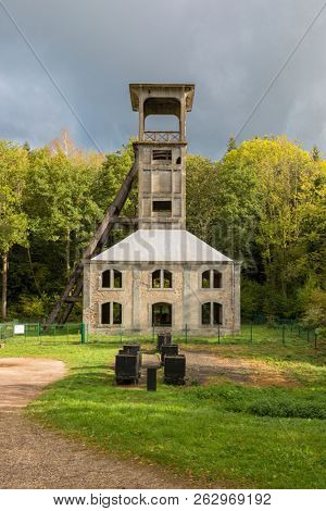 Shaft of defunct Sainte Marie coal mine at Ronchamp, France