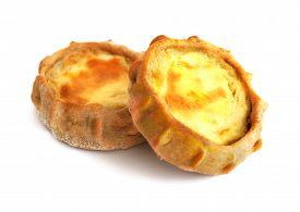 Fresh Baked Traditional Russian Small Pie With Potatos