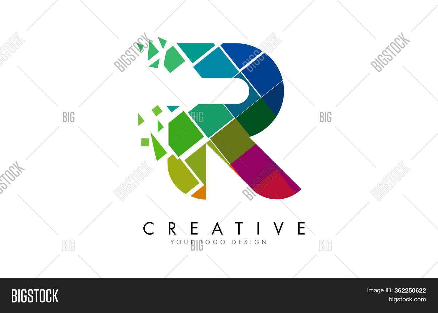 Letter R Design Vector Photo Free Trial Bigstock