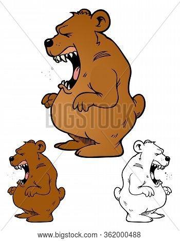 Angry Cartoon Bear, Comes With Bonus Variations