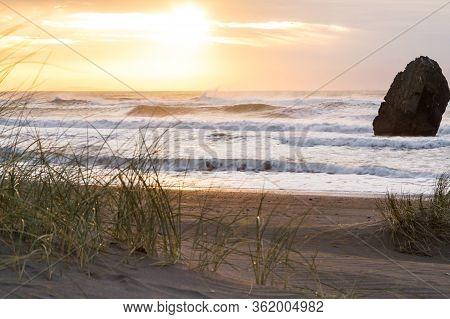 Sunset In Gold Beach, Oregon
