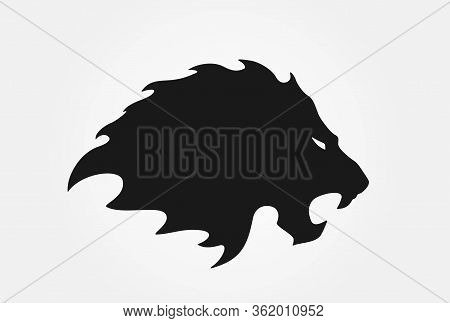 Lion Logo. Isolated Vector Image Of Lion Head. Valor And Power Symbol