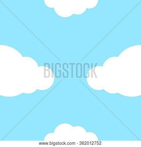 Cute Clouds Seamless Vector Photo Free Trial Bigstock