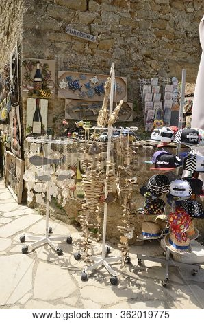 Souvenirs Store In Medieval Catalonia Vilage