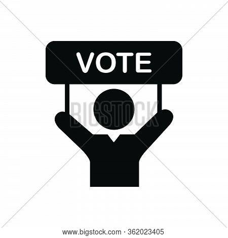 Black Solid Icon For Vote Politics Political Campaign