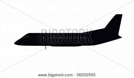 Single Small Aircraft Silhouette