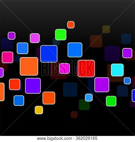 Abstract Geometric Background With Overlapping Squares. Vector