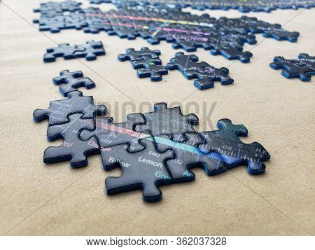 Pieces Of An Incomplete Puzzle Jigsaw