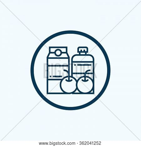 Groceries Icon Isolated On White Background From Gastronomy Collection. Groceries Icon Trendy And Mo