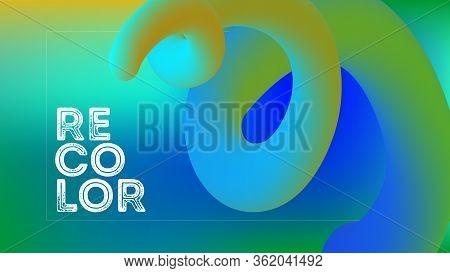 Funky Neon Blend Vector Background. Trendy Colorful Vibrant Horizontal Banner. Fluorescent Noble Vec