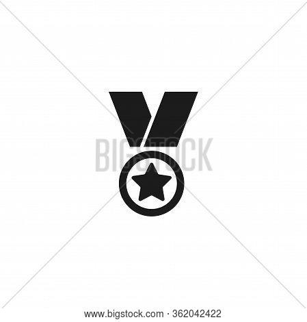 Medal Vector Icon . Lorem Ipsum Illustration Design