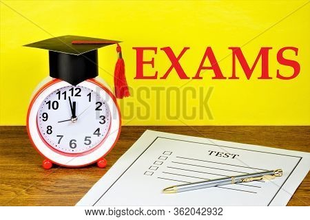 Pass Exams, Student Test. Determination Of Compliance With The Level Of Knowledge And Skills, Confir