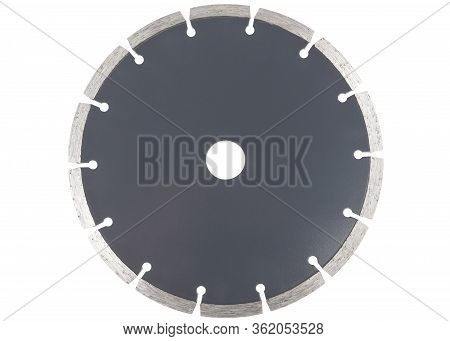 Diamond Saw Blade For Cutting Concrete Isolated On A White Background